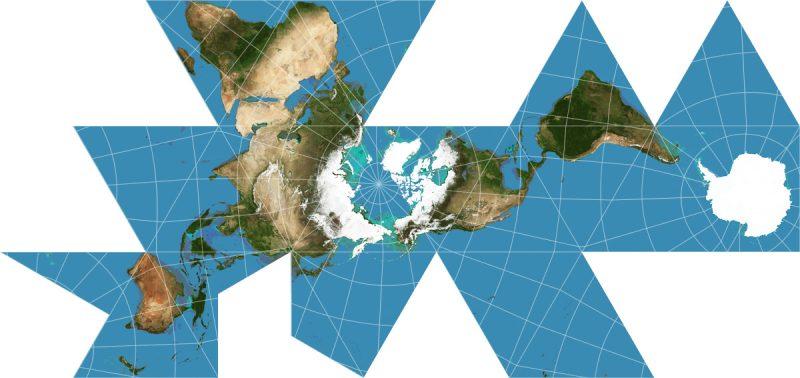 Proyección de Richard Buckminster Fuller