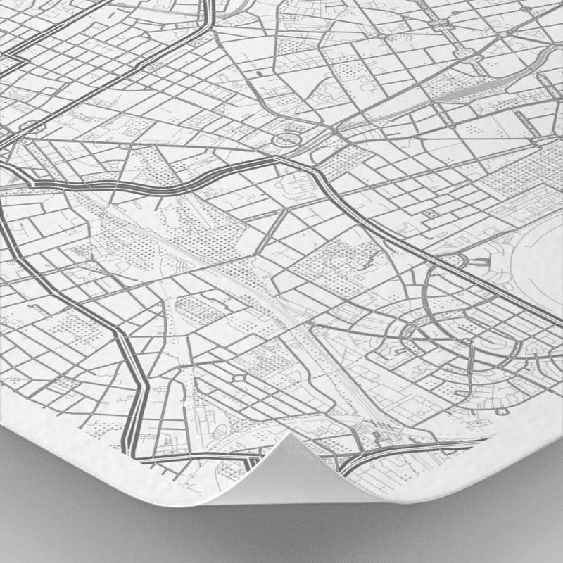 Detalle del mapa con estilo Clean de Berlín