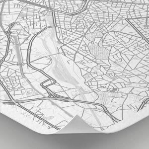Detalle del mapa con estilo Clean de Bruselas