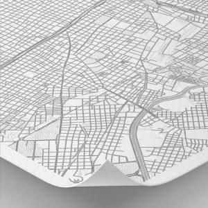Detalle del mapa con estilo Clean de Buenos Aires