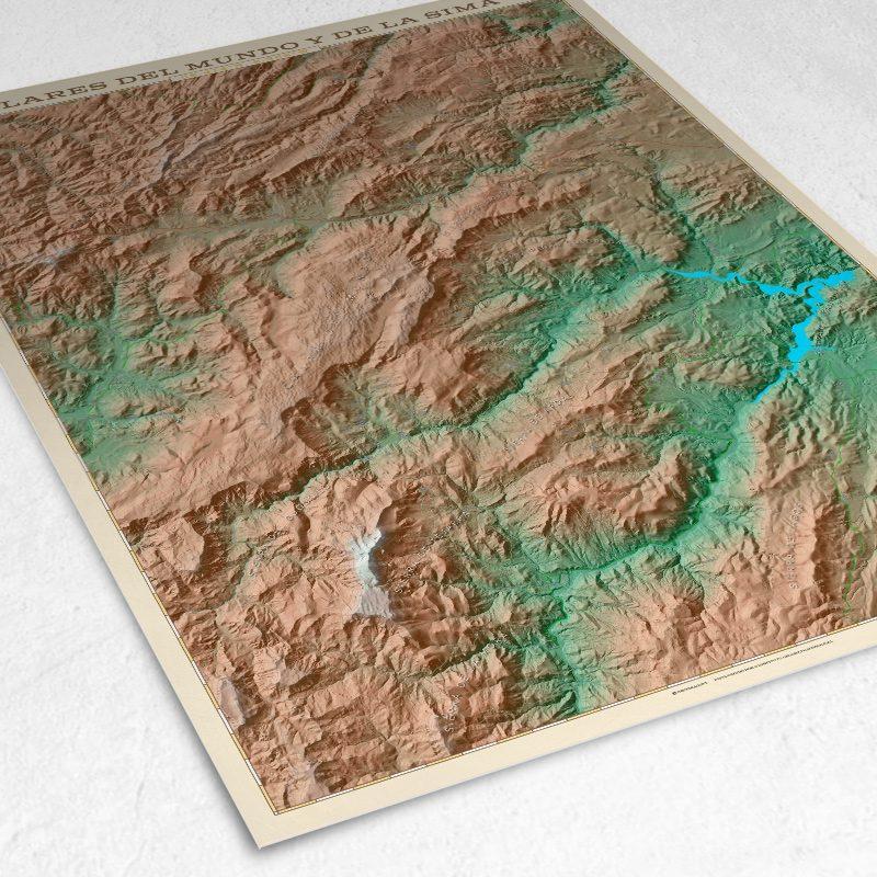 Detalle del mapa de los Calares del Mundo y la Sima
