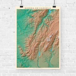 Mapa topográfico de la Sierra de Cazorla
