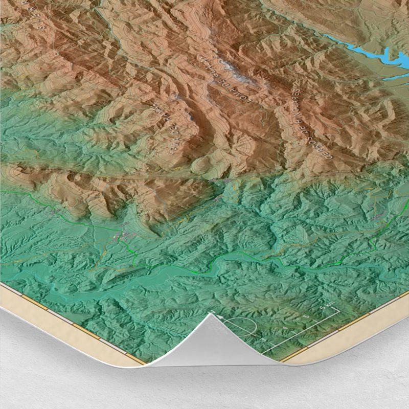 Ampliación del mapa de la Sierra de Cazorla