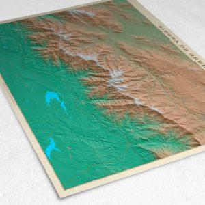 Detalle del mapa de la Sierra de Gredos