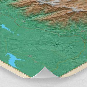 Ampliación del mapa de la Sierra de Gredos