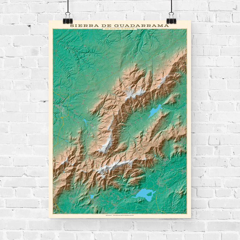 Mapa topográfico de la Sierra de Guadarrama