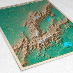 Detalle del mapa de la Sierra de Guadarrama