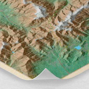 Ampliación del mapa de la Sierra de Guadarrama