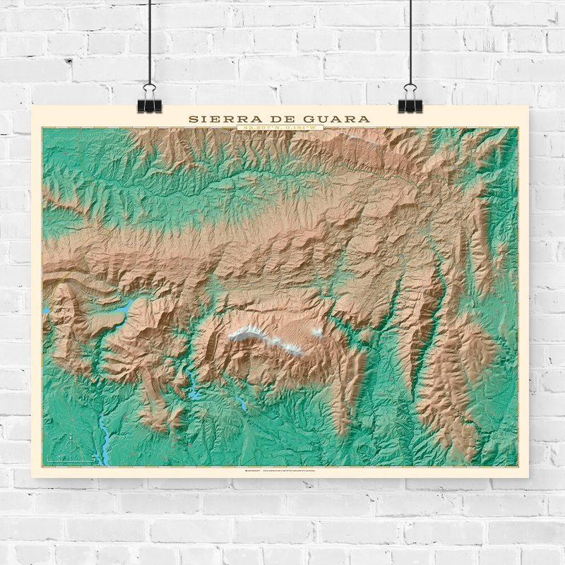Mapa topográfico de la Sierra de Guara
