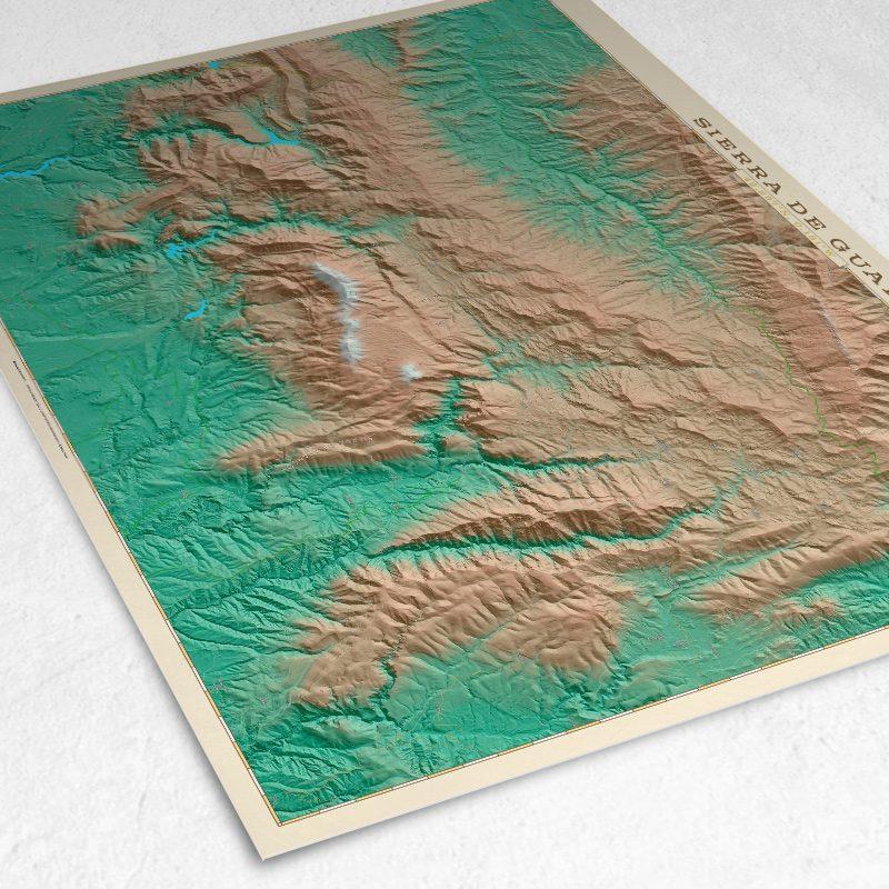 Detalle del mapa de la Sierra de Guara