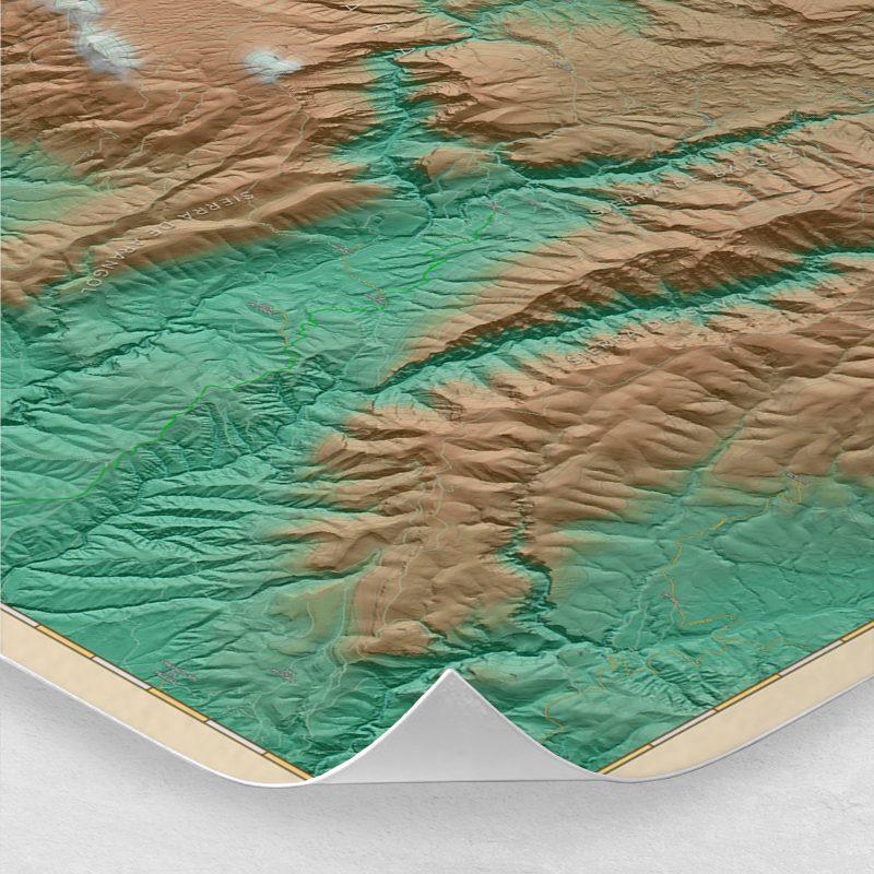 Ampliación del mapa de la Sierra de Guara