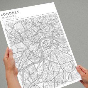 Mapa con estilo Clean de Londres
