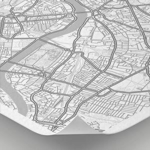 Detalle del mapa con estilo Clean de Londres