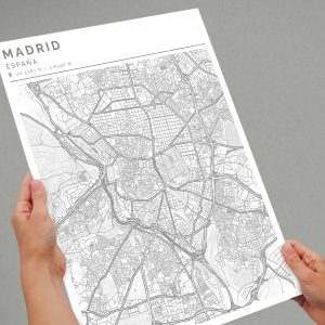 Mapa con estilo Clean de Madrid