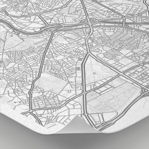 Detalle del mapa con estilo Clean de Madrid