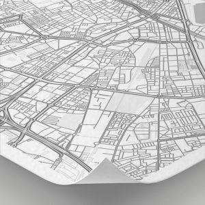Detalle del mapa con estilo Clean de Málaga