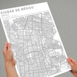 Mapa con estilo Clean de Ciudad de México