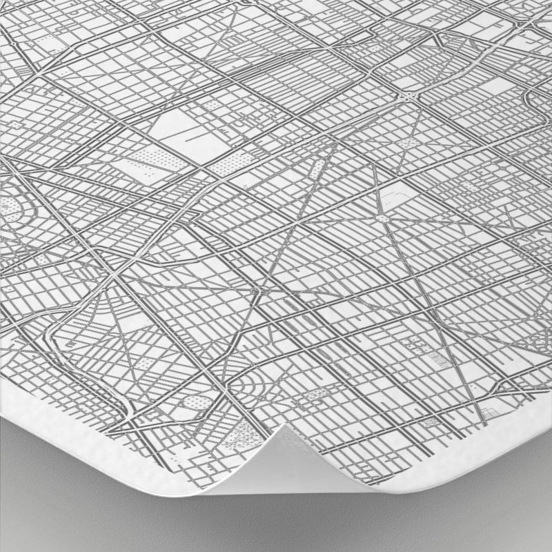 Detalle del mapa con estilo Clean de Ciudad de México