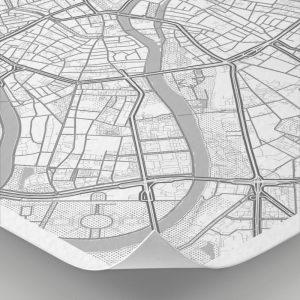 Detalle del mapa con estilo Clean de Moscú