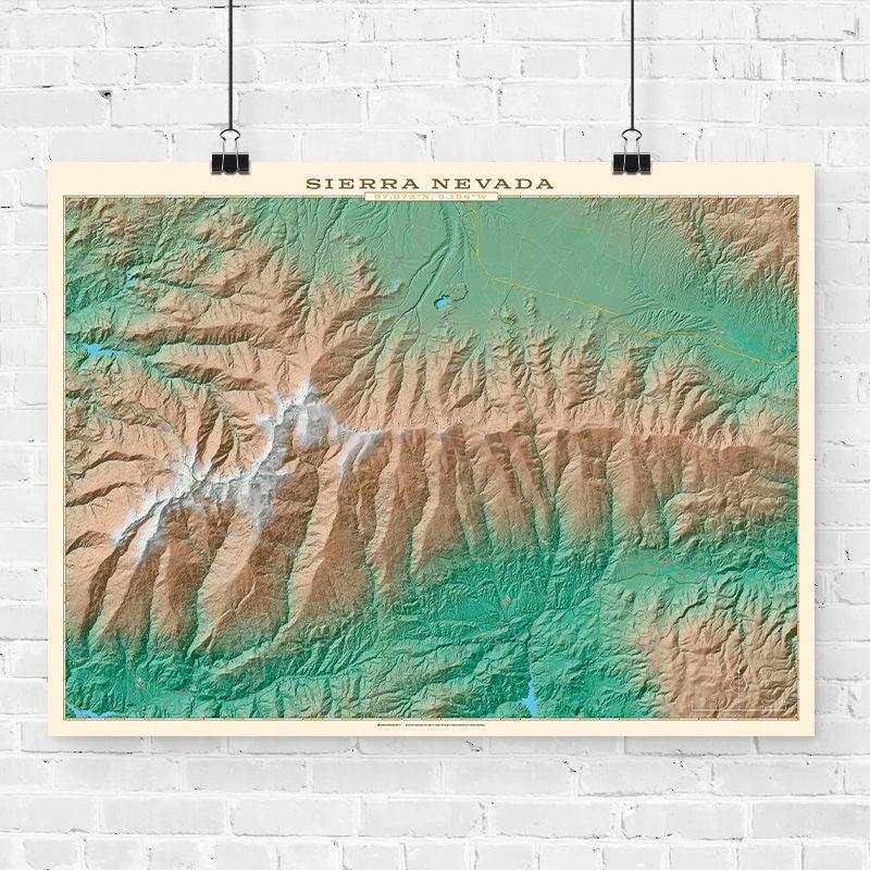 Mapa topográfico de Sierra Nevada