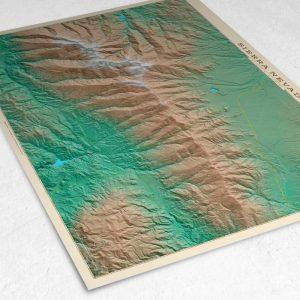 Detalle del mapa de Sierra Nevada