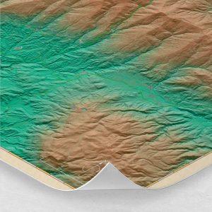 Ampliación del mapa de Sierra Nevada