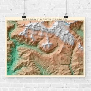 Mapa topográfico de Ordesa y Monte Perdido