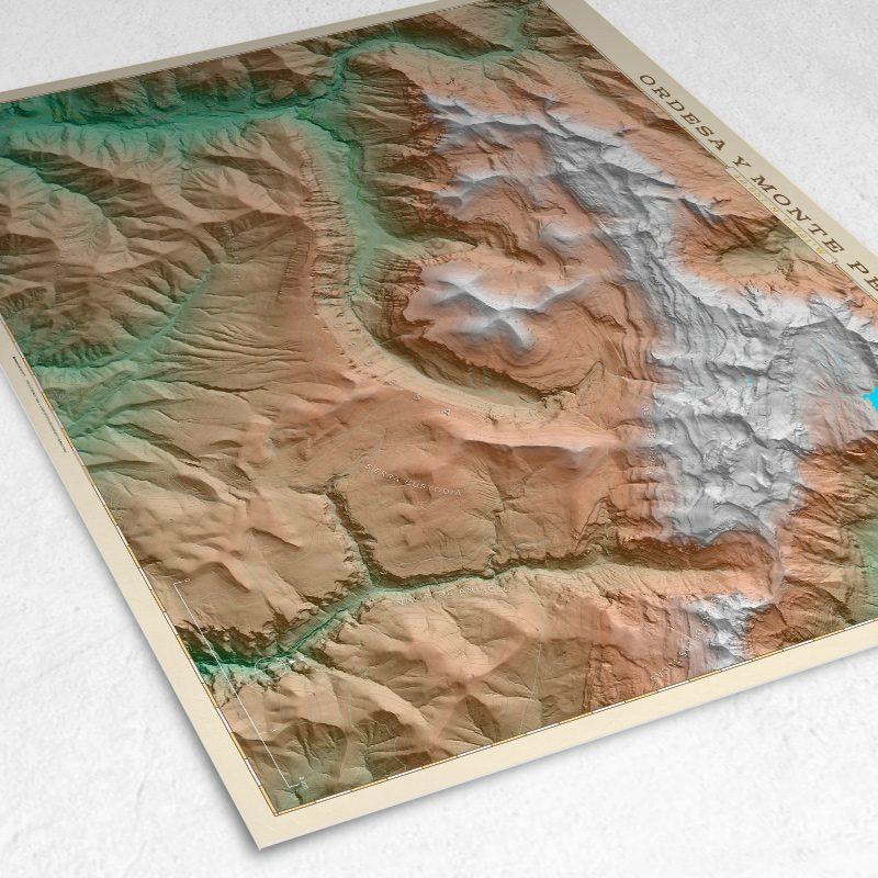 Detalle del mapa de Ordesa y Monte Perdido