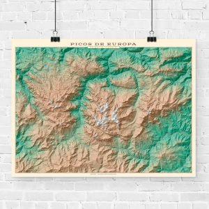 Mapa topográfico de los Picos de Europa