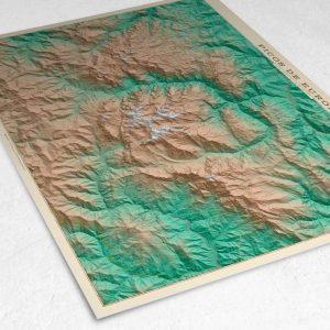 Detalle del mapa de los Picos de Europa