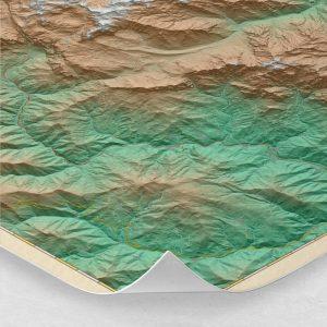 Ampliación del mapa de los Picos de Europa