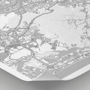 Detalle del mapa con estilo Clean de Río de Janeiro