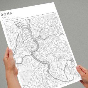 Mapa con estilo Clean de Roma