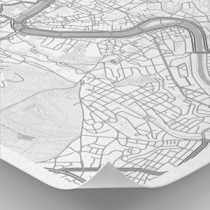 Detalle del mapa con estilo Clean de Roma