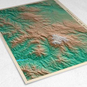 Detalle del mapa de la Serranía de Ronda