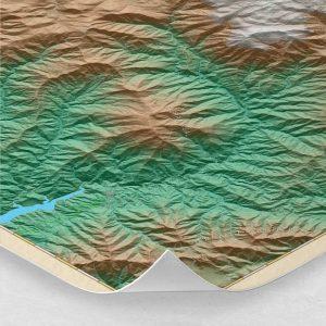 Ampliación del mapa de la Serranía de Ronda