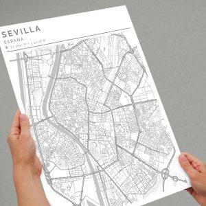 Mapa con estilo Clean de Ciudad de Sevilla