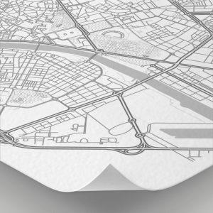 Detalle del mapa con estilo Clean de Sevilla