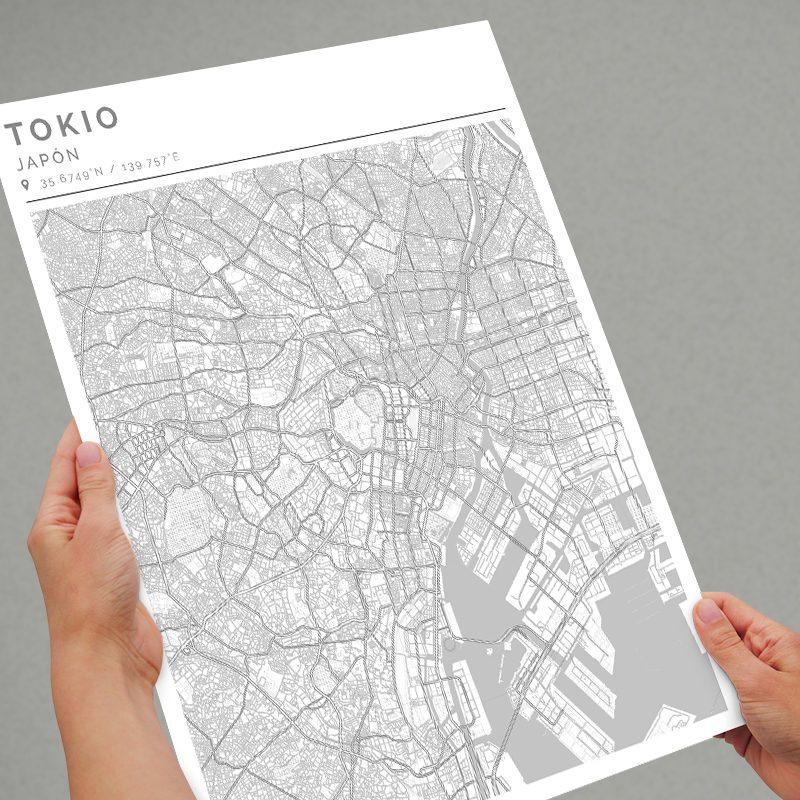 Mapa con estilo Clean de Tokio