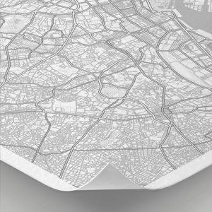 Detalle del mapa con estilo Clean de Tokio