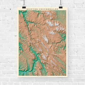 Mapa topográfico de los Montes Universales