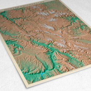 Detalle del mapa de los Montes Universales