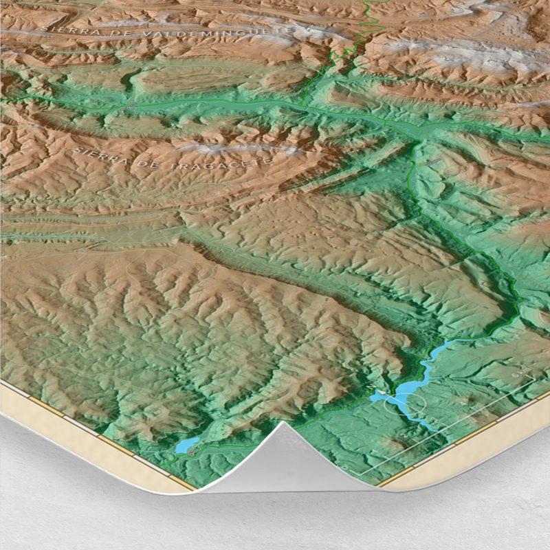 Ampliación del mapa de los Montes Universales