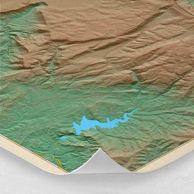 Ampliación del mapa de las Sierras de Urbasa y Andía