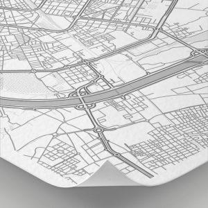 Detalle del mapa con estilo Clean de Valencia