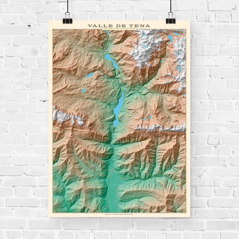 Mapa topográfico del Valle de Tena