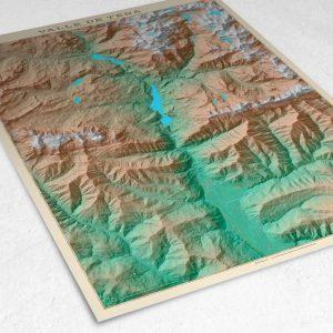Detalle del mapa del Valle de Tena
