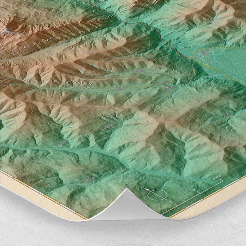 Ampliación del mapa del Valle de Tena