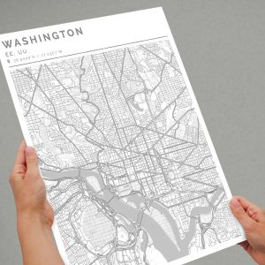 Mapa con estilo Clean de Washington