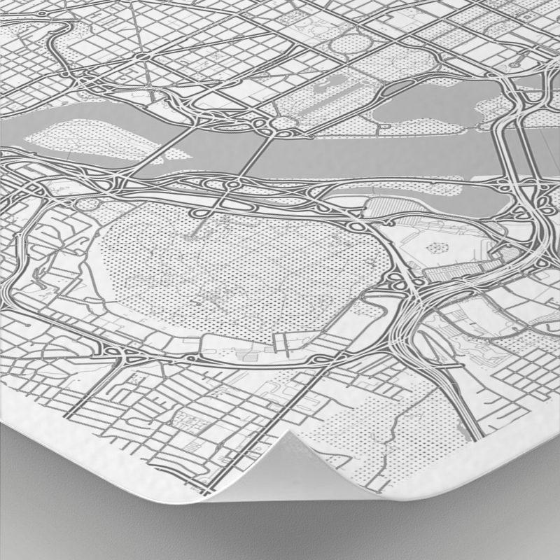 Detalle del mapa con estilo Clean de Washington